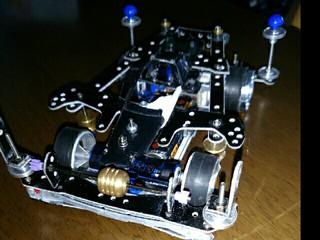 s2シャーシで余りもので作った娘のマシンです!